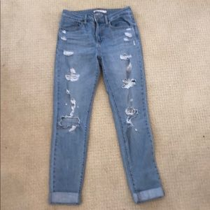Levi's 721 High Rose Skinny Jeans Size 27